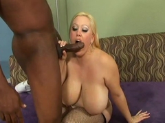 chubby blonde gets black dick