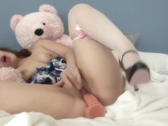 Hot Babe Sophie Paris Having Horny Solo Toy Masturbation