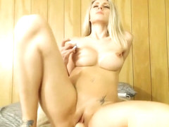 That Ass OMG Cute Blonde Babe Riding Dildo