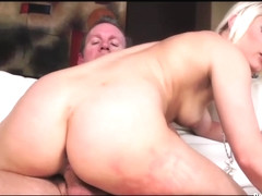 Voluptuous blonde angel enjoys a cock ride
