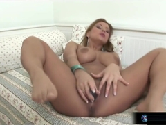 Busty blonde Dorothy Black toying dildo