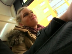 I met this young and gorgeous blonde on the bus
