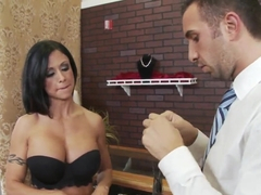 Hot brunette pornstar Keiran fucks hard demonstrating perfect skills