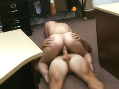 Cuban hottie gets fucked at the pawnshop