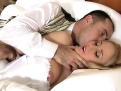 Alarm cock for a sexy blonde girl Mandy Dee