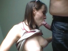 So Pretty Brunette Wife Make A Blowjob In A Basement Filmed By Lustful Husband