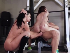 Veronica Avluv and Cytherea are getting fucked in the gym, instead of doing their workout routine