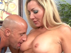 Best pornstar Lisa Lee in exotic big tits, blonde adult clip