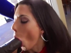 Pleasing brunette young harlot Alexa Tomas makes sensuous blowjob