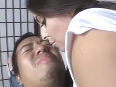 Jasmine Mendez Licks lucky Asian dude's face
