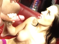 Anaya Leon is sucking her lover's dick and getting ready to feel it inside her pussy