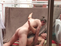 Buenos Aires Beach & Sunny Balcony Sex - Naughty Nomads EP02 - IdeallyNaked