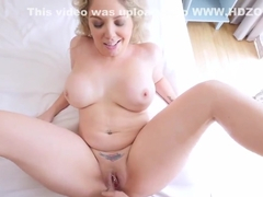 Stepson feeds step momma Kiki Daire with his huge cock