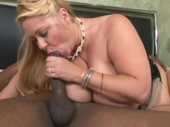 Nice breasty mom Samantha 38G gives a magic BJ