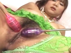 Maki Hoshino Takes On Any Dildo