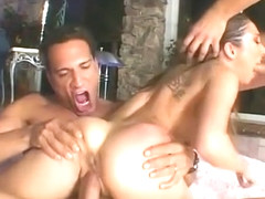 Roxy Jezel goes ass to mouth in threesome