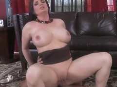 Charming buxomy English mom Diamond Foxxx