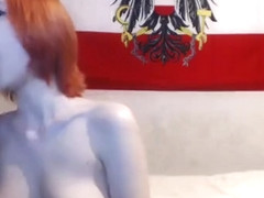 Hot Redhead Toys Her Pussy On Webcam