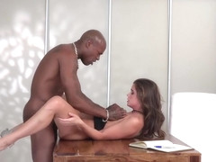 First time with a black guy and she loves it