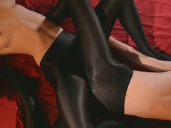 Strapless Dildo - Sex in Silky Tights