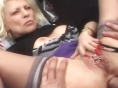 My Sexy Piercings Granny with pierced pussy anal sex
