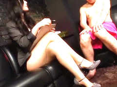 Best Japanese model Iori Kogawa in Hottest foot job, face sitting JAV scene
