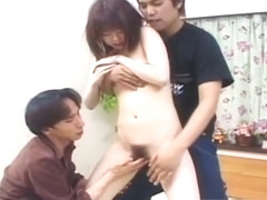 Shy Japanese teen girl gets her hairy part1