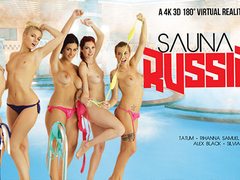 Alex Black & Kattie Gold & Rihanna Samuel & Silvia Dellai & Sweet Cat in Sauna Russian Style part .