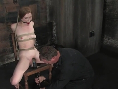 Madison Young, the flexible slut, gagged, whipped n intense orgasms