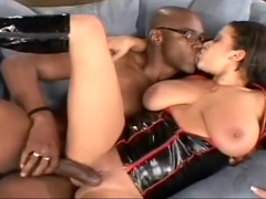 Big breasted star Alexis Silver does all she can to please this cock