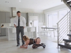Big tittied maid Mia Lelani banged by her master Johnny hard and deep
