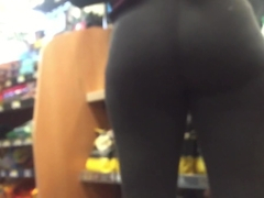 Hot Ebony Grey Spandex Ass