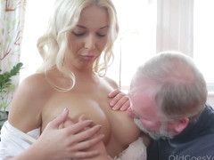 Hot Blondie For Grandpa With Karol Lilien