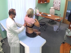 Busty milf creampied by doctors dick