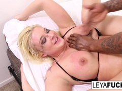 Leya Falcon in Leya Gets A Big Black Cock In Her Ass - LeyaFalcon