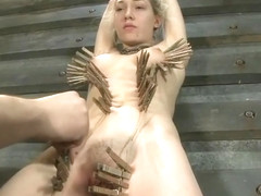 Hot Lily Labeau in real BDSM action