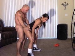 Perverted Trainer fucked & Creamed Alexis Rain