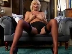 Jan Burton solo masturbation