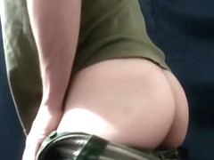 Small military cock with big cum