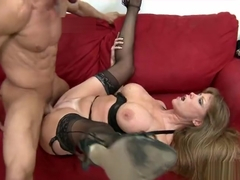 Dazzling carroty MILF Darla Crane comes with a blowjob