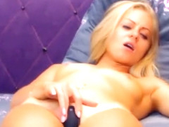 Sexy hottie Anetta Keys having a naughty solo masturbation
