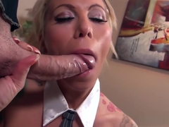Hot secretary Lolly Ink sucking a monster cock - Spizoo