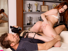 Big-Assed Redhead's Huge Cock Audition - EvilAngel