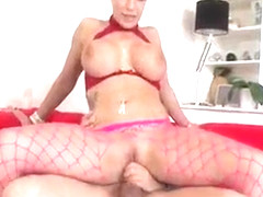 Swingeing busty Brooke Jameson cumming on huge wang