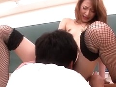 Horny Japanese chick Mai Shirosaki in Best JAV uncensored Stockings scene