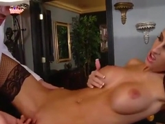 Awesome buxomy Kortney Kane is sucking my penis