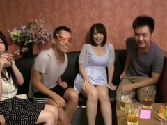Rin Iroha Asian babe and her nasty girlfriends in wild sex orgy