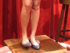 ballet flats cock crush shoejob