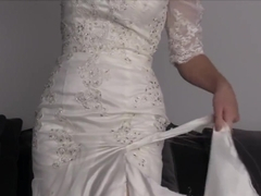 Ripping wedding dress to shreds