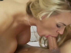 Tanya Tate is a smashing, blonde woman with big tits, who likes to eat fresh cum